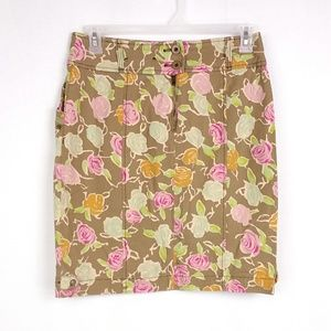 Hei Hei Floral Sidewalk Garden Pencil Skirt M05